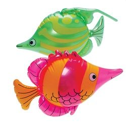 $2.15 ea fish Assorted Inflatable Tropical Fish .Size: (16) inches for ocean