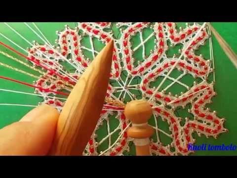 Merletto a tombolo - Progetto Snowflake 3a parte, fine - YouTube