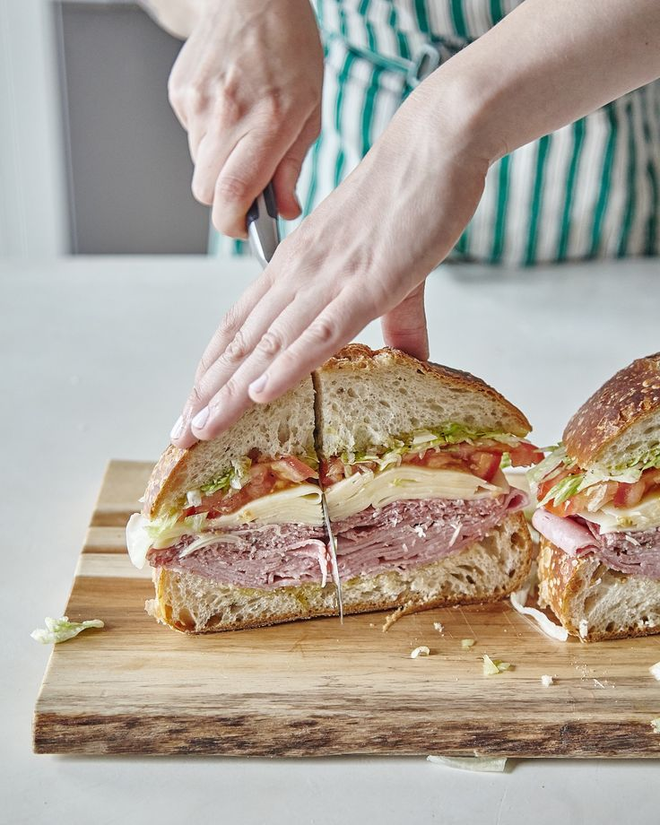 If you're looking for food for a large crowd, look no further than this guide for making a sturdy, stable, DELICIOUS, sandwich. Customizable recipes like this are perfect for parties! It's a cheap and filling way to feed your guests dinner. Top it with whichever ingredients you like, just make sure you follow our deli-approved guide to building the sandwich.