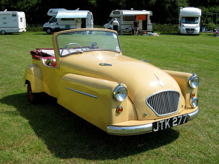 1956 Bond 3-Wheel Minicar Mark-C DeLuxe tourer with 197cc (12ci) Villieres 9E Air-Cooled Two-Stroke Engine Three Speed Manual Driving the Front Wheel