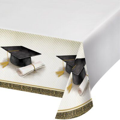 The Party Aisle Graduation Plastic Tablecloth