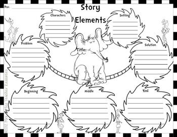 DR. SEUSS- ELEMENTS OF A STORY - TeachersPayTeachers.com freee