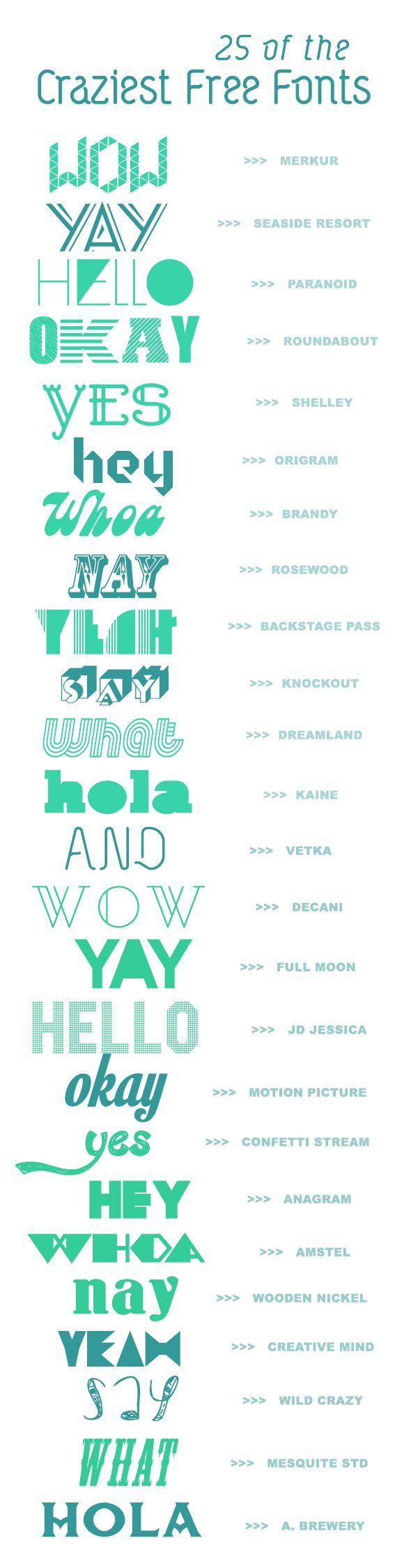 25 crazy creative fonts   a subtle revelry
