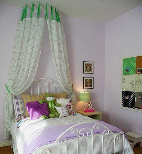 Baldachin Kinderzimmer Farbiges Design Punkte Kleines Kinderzimmer