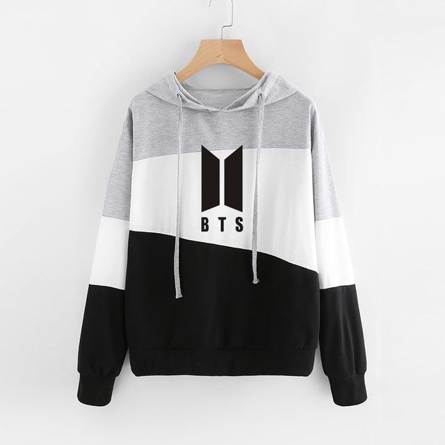 Kpop BTS Hoodies for Women Plus Size Feminino Pullover Coat Bangtan Boys Oversized Hoodie Sweatshirt Women Streetwear Tops Drop