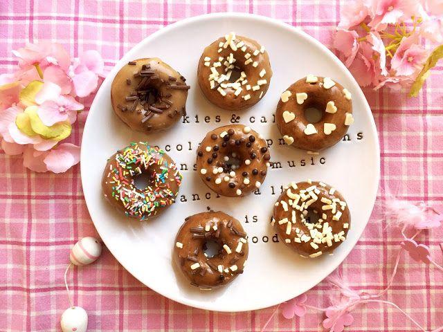 tre muffin e un architetto: donuts speziati con glassa allo sciroppo d'acero