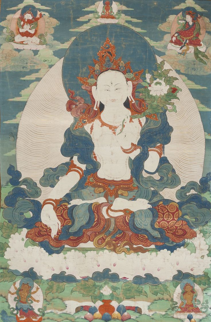 A Thangka Depicting White Tara Tibet 18th 19th Century