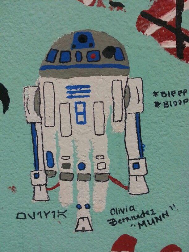 This is my R2D2 Star Wars handprint