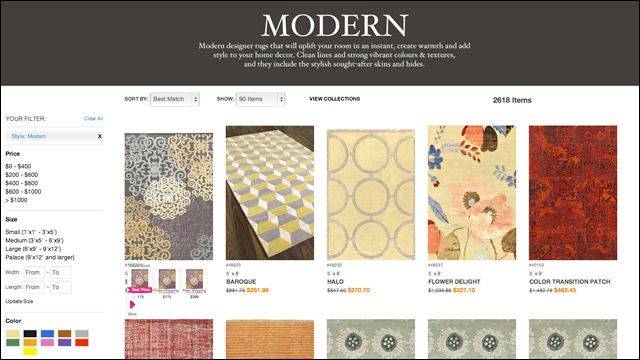 Where to shop for decor online: E-Carpet Gallery for Rugs