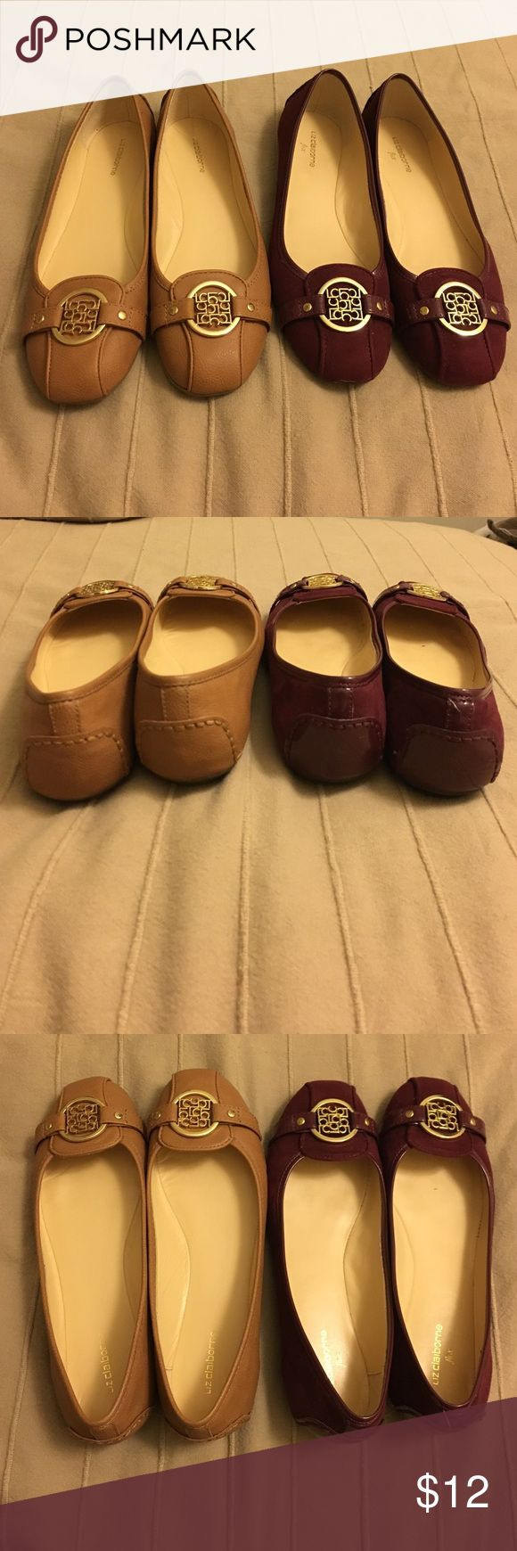 Liz Claiborne Iris Flats Liz Claiborne Iris Flats. Size: 6.5.                            Burgundy is in suede. Liz Claiborne Shoes Flats & Loafers