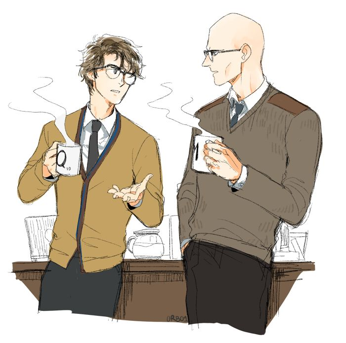 Crossover between James Bond and Kingsman - Q and Merlin! :D