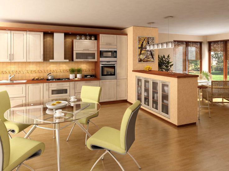 Orion moderní světlá kuchyň v imitaci javoru / modern kitchen