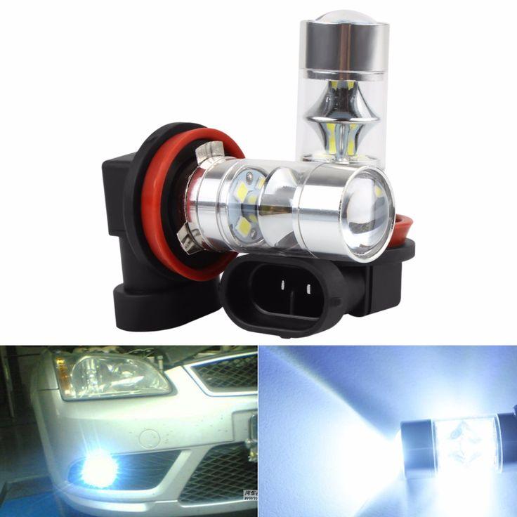 2 Pcs Super Putih 750LM H8 H11 60 W 12-SMD 2323 LED Mobil Lampu Kabut Mengemudi Lampu DRL