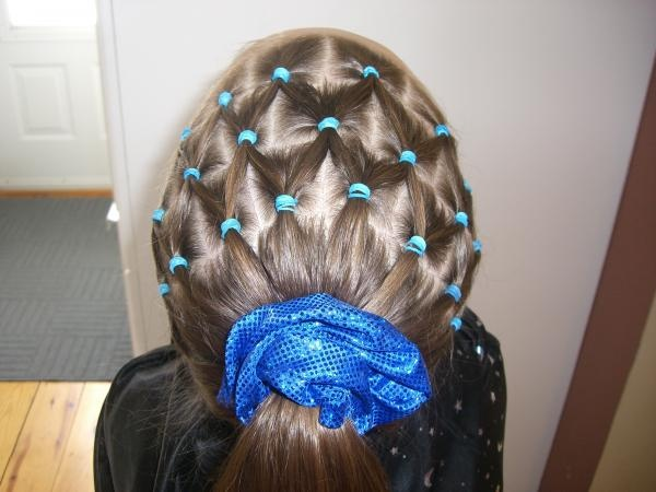 gymnastics hair - picture only