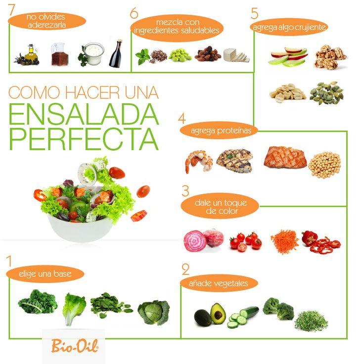 ¿Cómo hacer la ensalada perfecta? #Alimentacion #Salud #Bienestar.