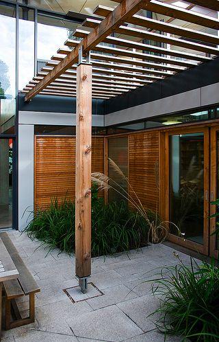 modern pergola and patio