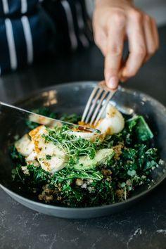 Warm green breakfast bowl