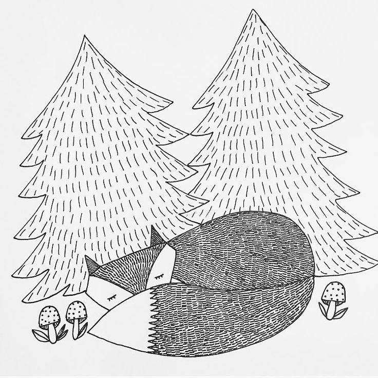 G o o d n i g h t💫 ------------------------------------------------- #räv #fox #djur #animal #sova #sleep #nature #skog #forest #sweetdreams #skapa #pyssel #kidsroom #barnrum #illustration #rita #draw #drawing #konst #konstnär #art #artwork #artist #myart #artgallery #artoftheday #godnatt #goodnight