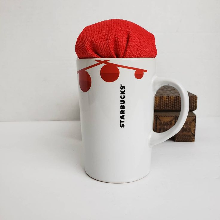 Starbucks Holiday Coffee Cup Pincushion Upcycled Shabby ...