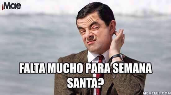 Falta mucho para Semana Santa? #memes