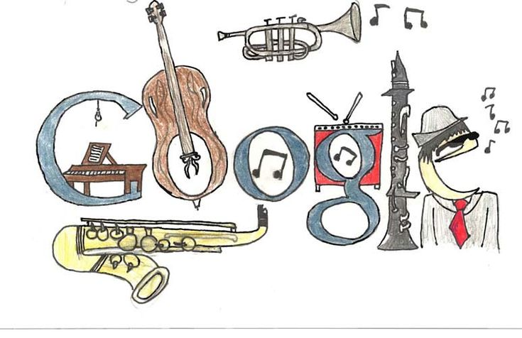 One of the Top 50 Google Doodle Contest Winners Gallery.  This one is by Griffin F, Maynard, MA. 5th grade.