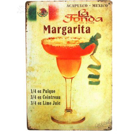 recette margarita #deco plaque metal