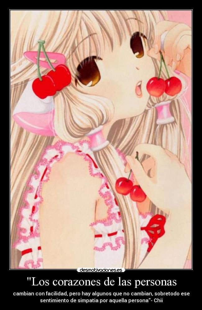 carteles chii chobits anime frase wiiiiii desmotivaciones