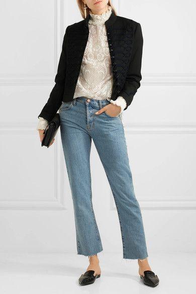 Vilshenko - Dina Embroidered Wool-felt Jacket - Black - UK6