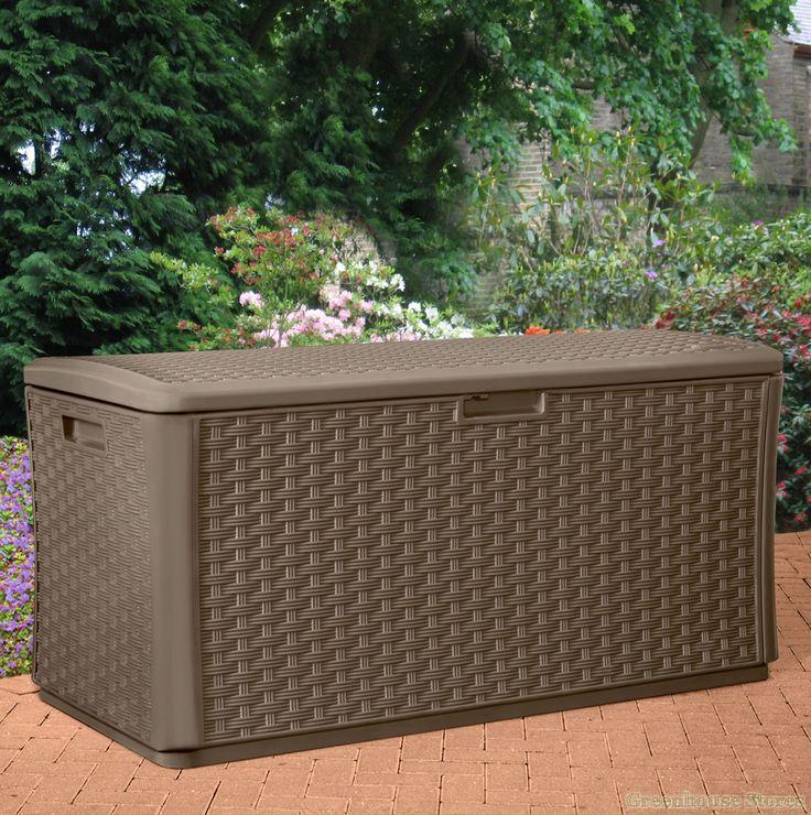 suncast 507 litre plastic storage box