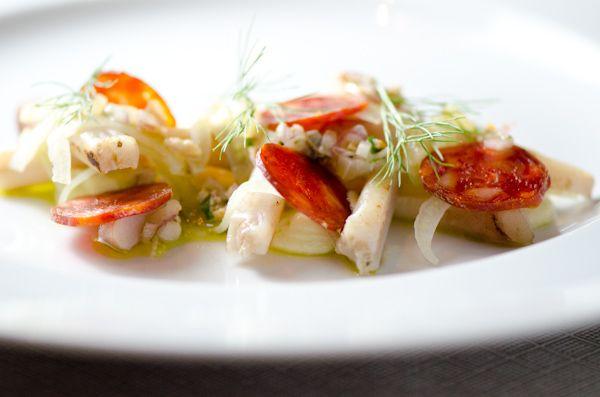, Pickled Fennel Salad, Chorizo, Manila Clam Vinaigrette, Meyer Lemon ...
