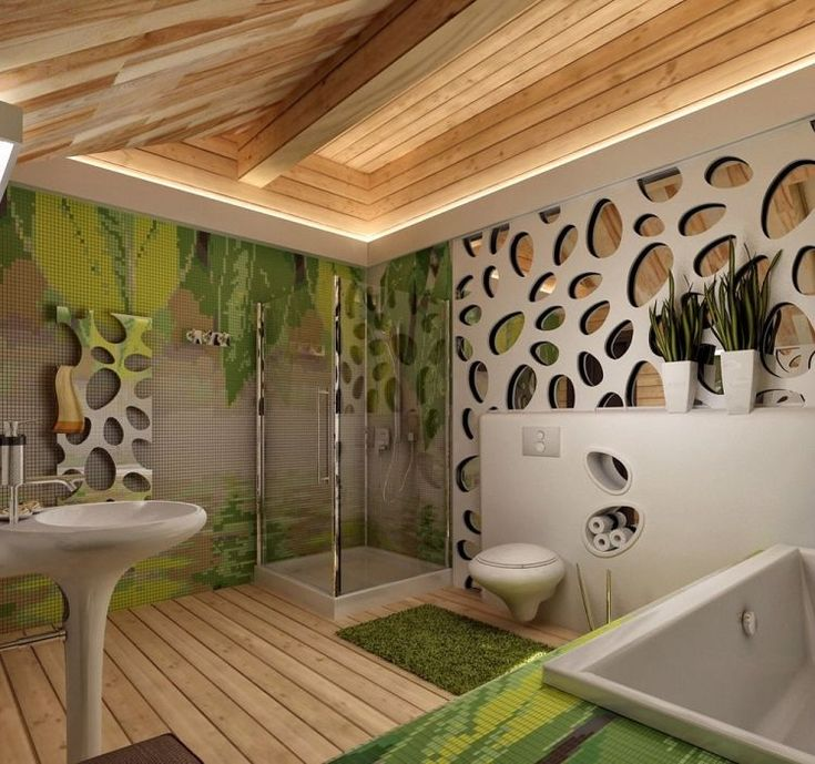 17 meilleures id es propos de salle de bain originale sur pinterest salle - Decoration murale salle de bain ...