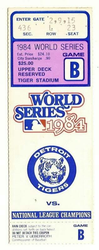 Tiger ticket 1984