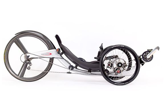 INNESENTI was designed from scratch using Formula 1 and Indy Car Racing Technology. Incredibly fast machine, with awesome braking and handling. Carefully thought out and tested ergonomics coupled to an unbelievably comfortable seat make the the most practical man powered sports machine in the world.