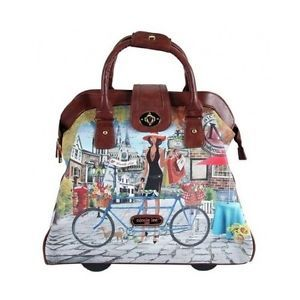 Business-Rolling-Tote-Nicole-Lee-Travel-Bag-Paris-NY-Leather-Wheeled-Laptop-Case