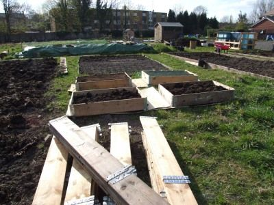 These are called pallet collars and they're good for making instant raised beds from!