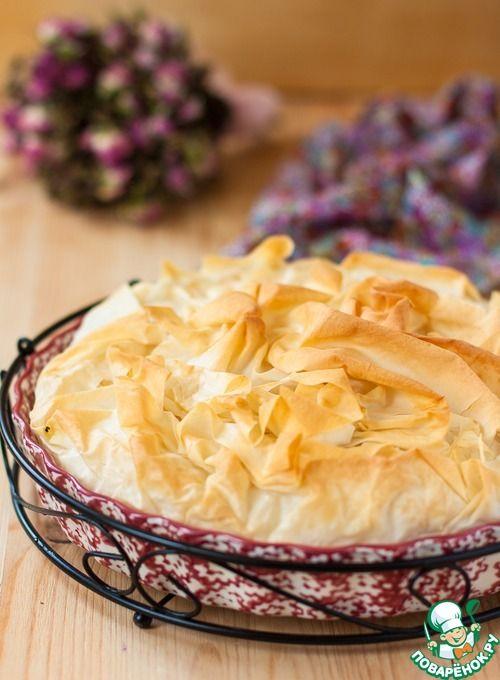 Пирог из теста фило с горбушей - кулинарный рецепт