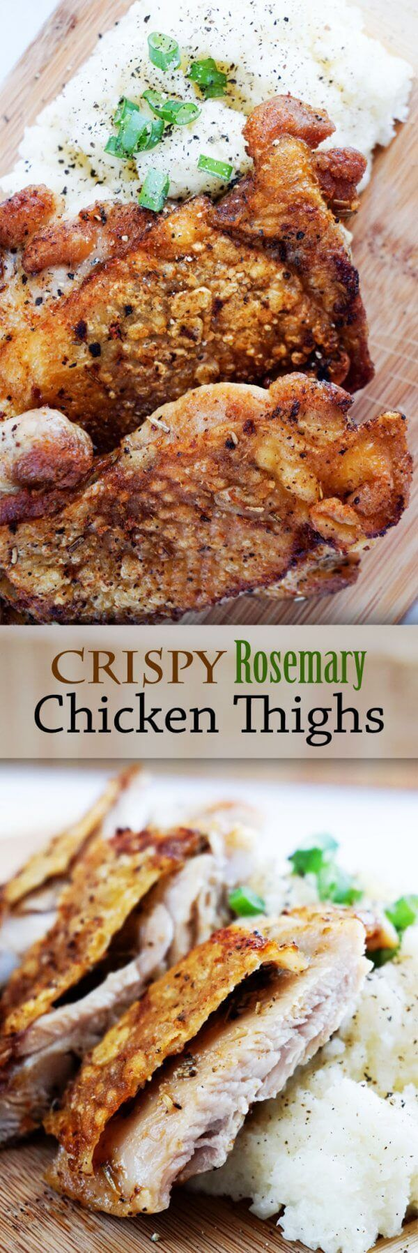 Crispy Chicken Thighs with Rosemary Butter!