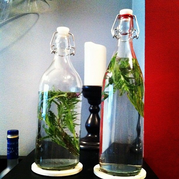 """""""Homemade Rosemary and Lavender Infused Vodka."""""""