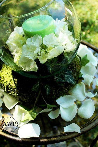 green white centerpiece