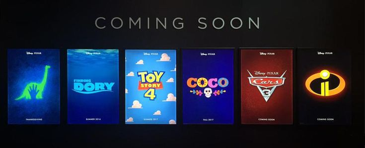 we already knew about the good dinosaur and finding dory but these others are officially happening!!! check out the scoop from the D23 expo