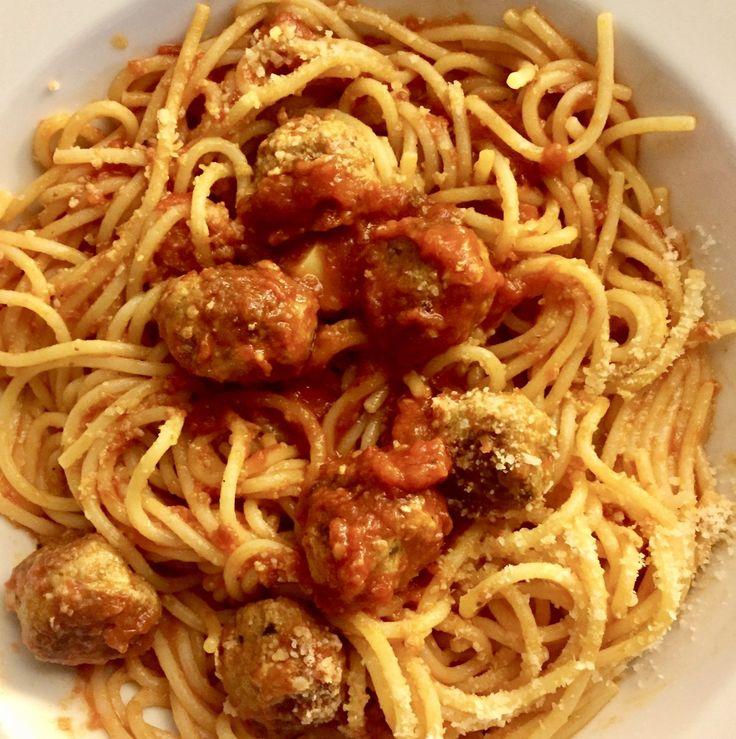 Spaghetti with Mini Meatballs a Sunday Supper