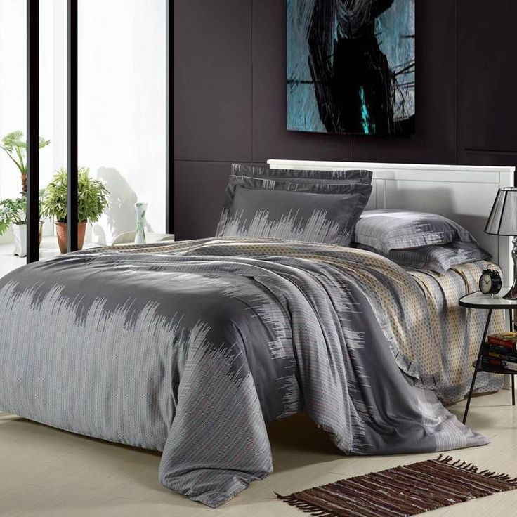 size set grey dark duvet bedding king cover color fabric satin cotton solid item luxury