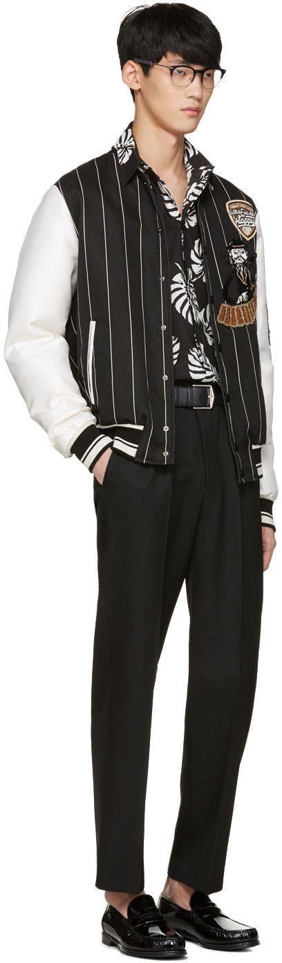 Dolce & Gabbana - Black Piano Man Varsity Jacket