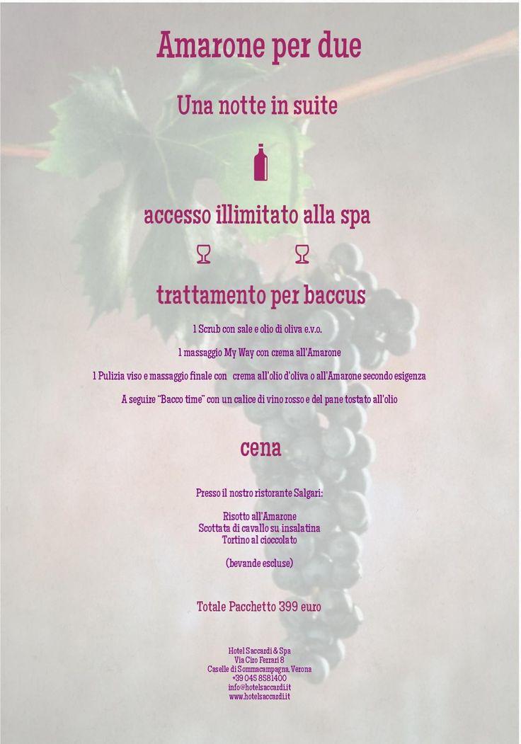 Amarone per due - Hotel Saccardi & Spa - Verona