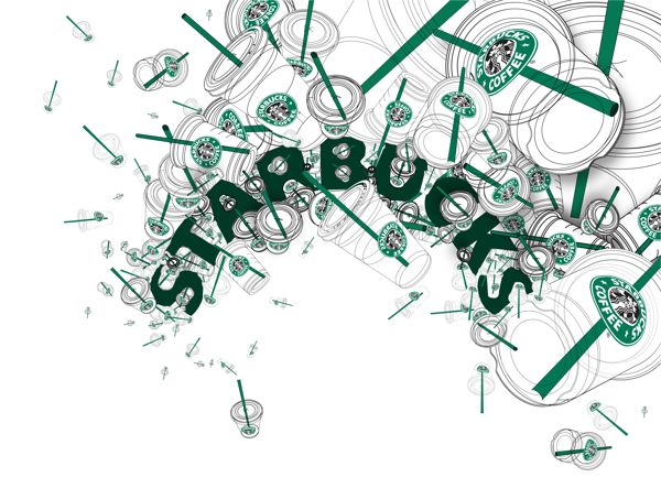 Starbucks by Ja Kyung PARK, via Behance