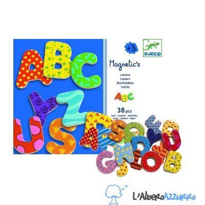 DJECO DJ03100 - Magnetic's Letters - Lettere Magnetiche Grandi in Legno - www.lalberoazzurro.net - Vendita Online