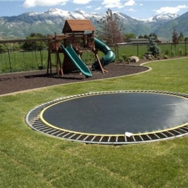 in ground trampoline dream house pinterest. Black Bedroom Furniture Sets. Home Design Ideas