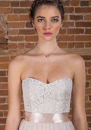 Bridal separates - Ava Bustier (Chantilly lace) & Ashley skirt (Silk Chiffon and English net)