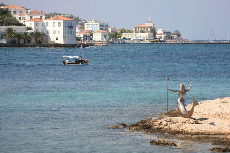 Natalia Mela, Mermaid Statue on Spetses island.
