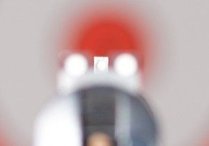 This is correct focus. Note the sharp front sight and blurry rear sight and target. This is what you must see for accurate shooting.